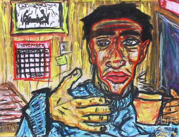 Drawing - Morning Coffee by Odalo Wasikhongo