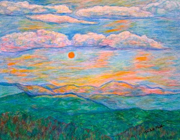 Art Print featuring the pastel Morning Color Dance by Kendall Kessler