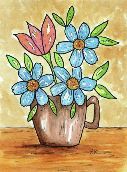 Painting - Morning Cup Of Flowers by Susan Campbell