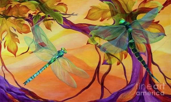 Wall Art - Painting - Morning Flight by Karen Dukes
