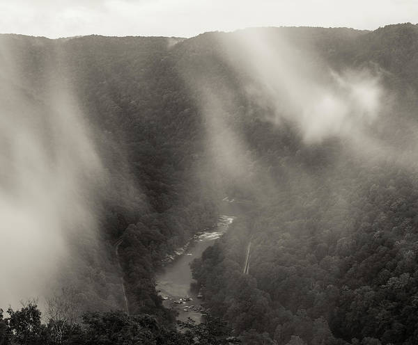 Photograph - Morning Fog New River Gorge by Dan Sproul
