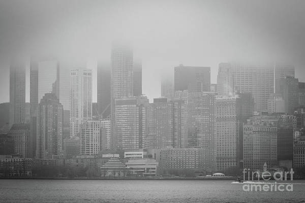 Photograph - Morning Fog Over Manhattan by Sanjeev Singhal