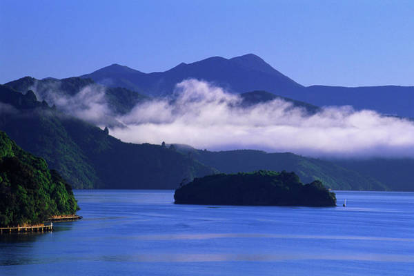 Queen Charlotte Islands Wall Art - Photograph - Morning Fog, Queen Charlotte Sound, New by Radius Images