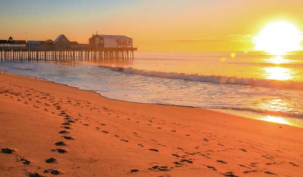 Photograph - Morning Footsteps On Old Orchard Beach by Dan Sproul