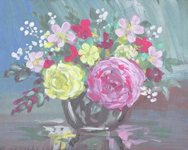Painting - Morning Garden Flowers Floral Impressionism  by Irina Sztukowski