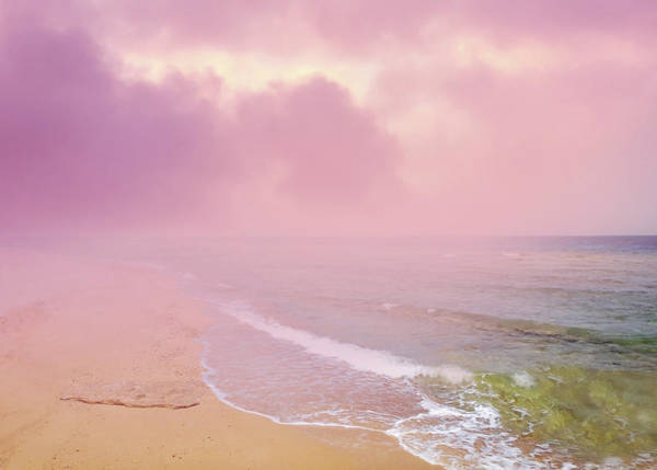 Morning Hour By The Seashore In Dreamland Art Print