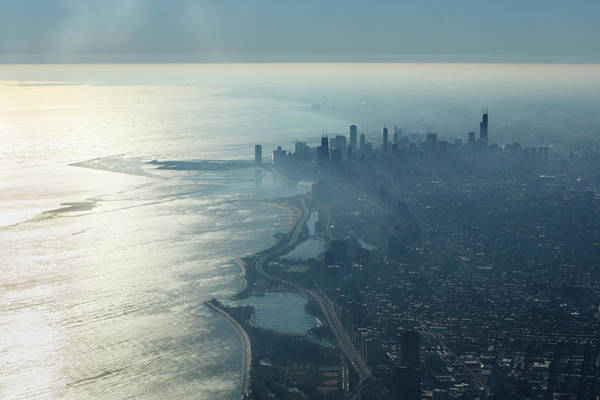 Illinois Photograph - Morning In Chicago by Laszlo Podor