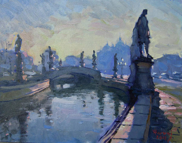 Wall Art - Painting - Morning In Padua Italy by Ylli Haruni