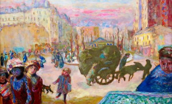 Avenue Painting - Morning In Paris - Digital Remastered Edition by Pierre Bonnard