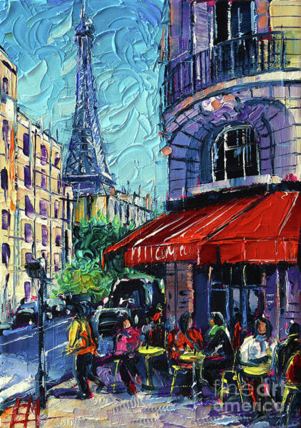 Brasserie Wall Art - Painting - Morning In Paris by Mona Edulesco