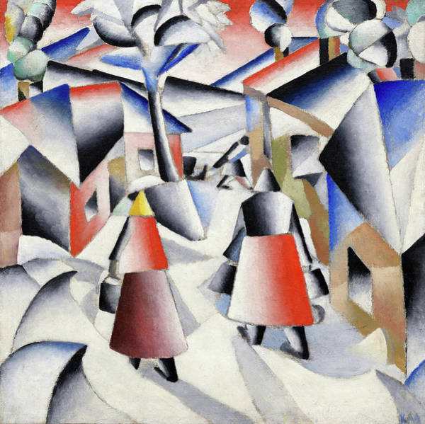 Wall Art - Painting - Morning In The Village After Snowstorm, 1912 by Kazimir Malevich