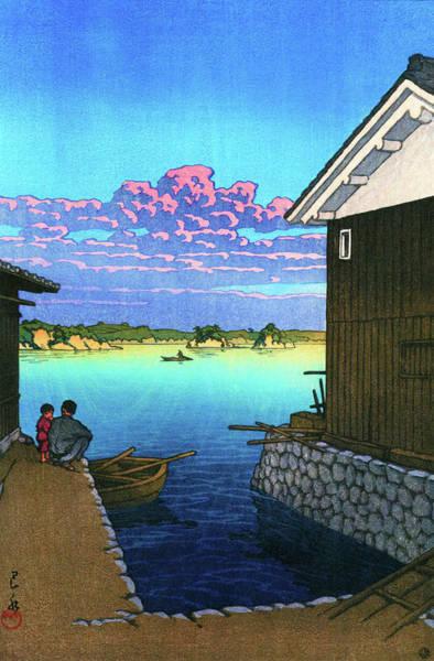Wall Art - Painting - Morning In Yobuko, Hizen - Digital Remastered Edition by Kawase Hasui