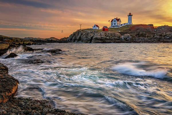 Photograph - Morning Light At Cape Neddick Lighthouse by Kristen Wilkinson