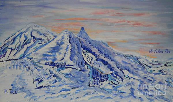 Wall Art - Painting - Morning Light On Jungfraujoch by Felicia Tica