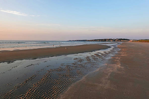 Photograph - Morning Light On Ogunquit Beach Ogunquit Maine Sunrise Sand Pattern by Toby McGuire