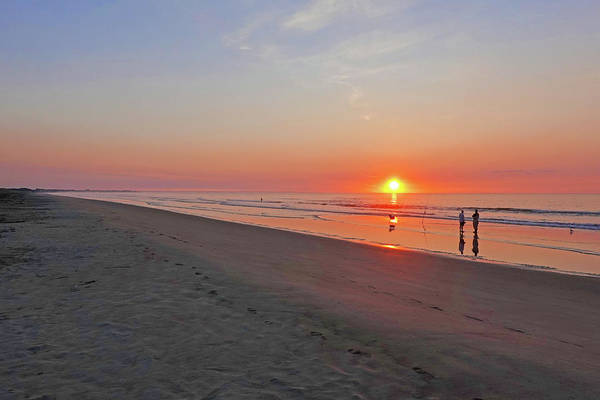 Photograph - Morning Light On Ogunquit Beach Ogunquit Maine Sunrise Walking by Toby McGuire