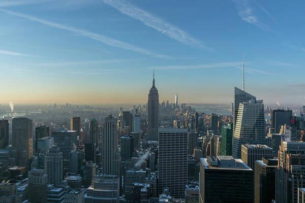 Photograph - Morning Manhattan Light by Mark Hunter
