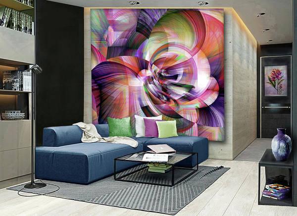 Wall Art - Digital Art - Morning Mist- Artwork In Situ by Grace Iradian