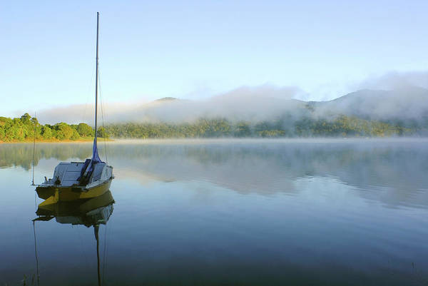 Atherton Tablelands Photograph - Morning Mist On Tinaroo Dam by Auscape/uig