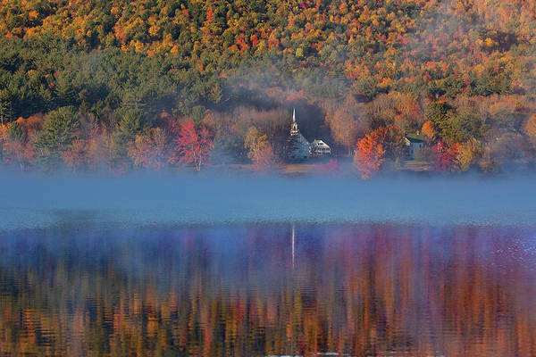 Photograph - Morning Misty Reflection Of Eaton Church by Jeff Folger