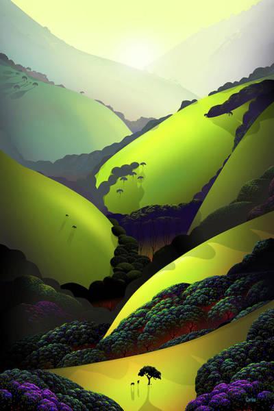 Valley Digital Art - Morning Mood by Tom Carlos