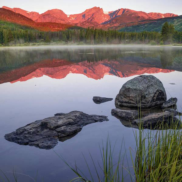 Photograph - Morning Mountain Light Over Sprague Lake - Rmnp Colorado by Gregory Ballos