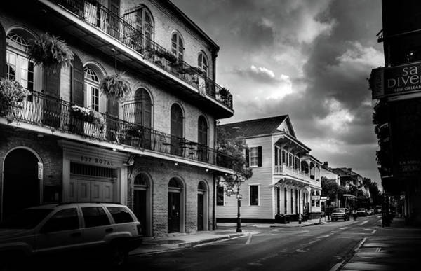 Wall Art - Photograph - Morning On Royal In Black And White by Greg and Chrystal Mimbs