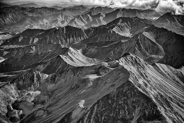 Foothills Wall Art - Photograph - Morning On The Alaska Range Black And White by Rick Berk