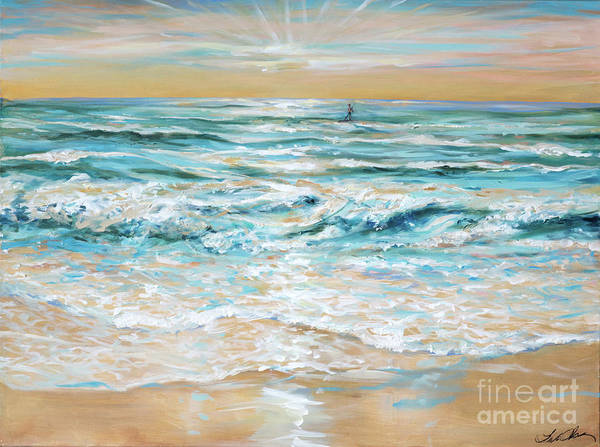 Painting - Morning Paddle by Linda Olsen