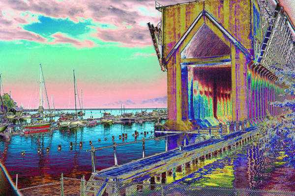Morning Pink Marquette Ore Dock Art Print
