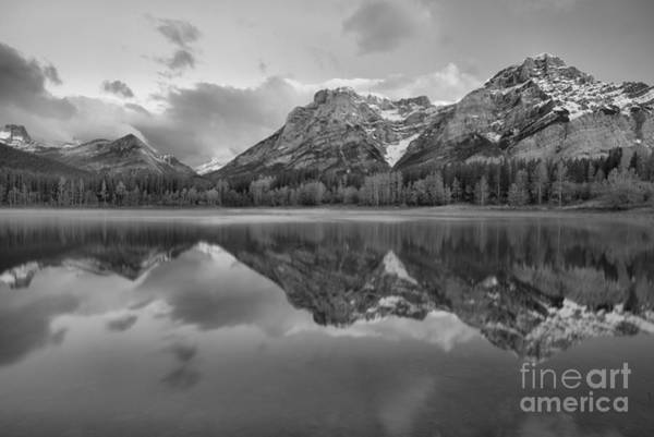 Photograph - Morning Reflections At Wedge Pond Black And White by Adam Jewell