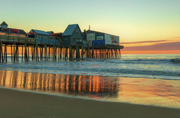 Photograph - Morning Reflections Old Orchard Beach by Dan Sproul