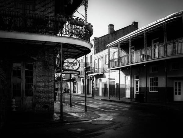 Wall Art - Photograph - Morning Sun On St Peter Street In Black And White by Greg Mimbs