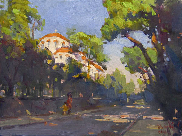 Wall Art - Painting - Morning Sunlight Athens by Ylli Haruni