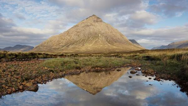 Photograph - Morning Sunlight Hits The Peak Of The Buachaille by Stephen Taylor