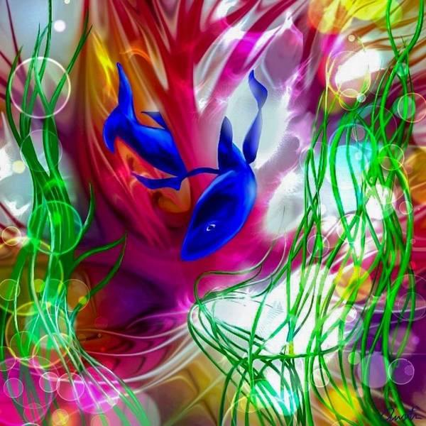 Wall Art - Digital Art - Morning Swim by Cepiatone Fine Art Incorporated Callie E Austin
