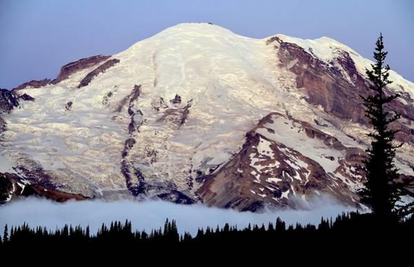 Photograph - Morning Twilight Mount Rainier by Ed  Riche