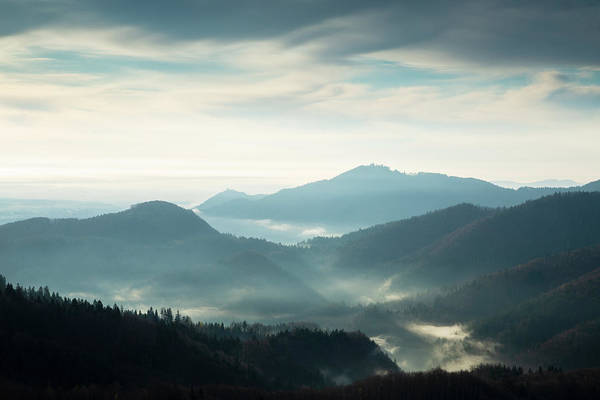 Wall Art - Photograph - Morning View Across To Sv Jost From The Jamnik Hills by Ian Middleton