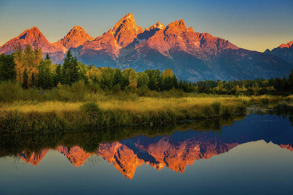 Photograph - Morning View Of Grand Tetons by John Hight