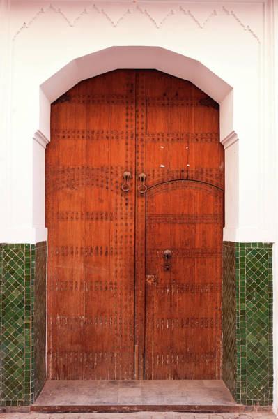 Wood Carving Photograph - Moroccan Door by Fumumpa