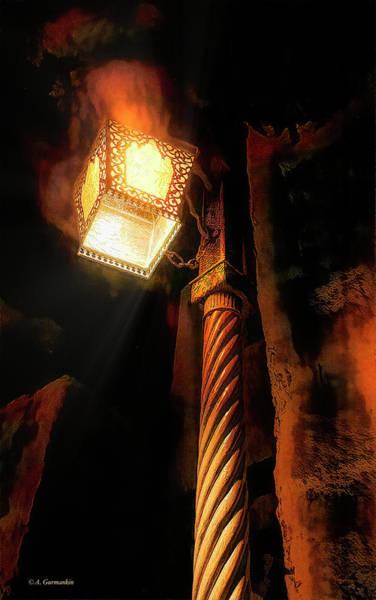 Photograph - Moroccan Motif Lamppost by A Gurmankin