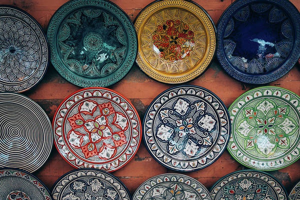 Wall Art - Photograph - Moroccan Plates by Pati Photography