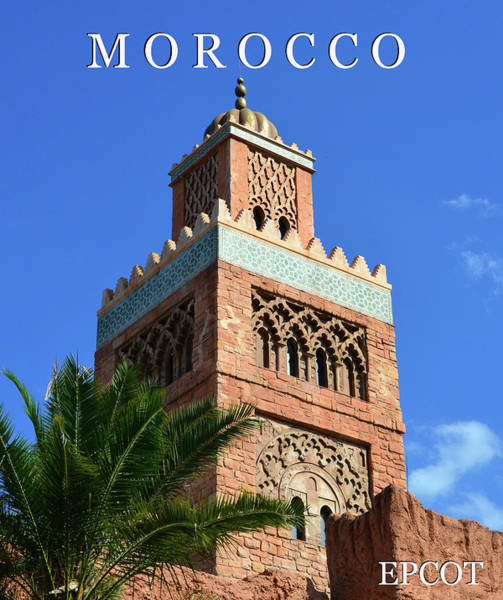 Epcot Center Wall Art - Photograph - Morocco At Epcot Work A by David Lee Thompson