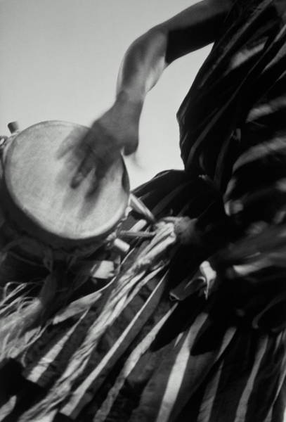 Wall Art - Photograph - Morocco, Drummer In Action, Detail by Jean-francois Gate