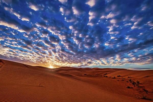 Photograph - Morocco Sand Dune Sunrise by Stuart Litoff