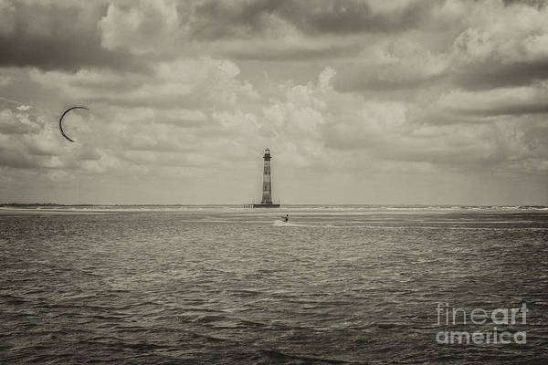 Photograph - Morris Island Light In Sepia by Dale Powell