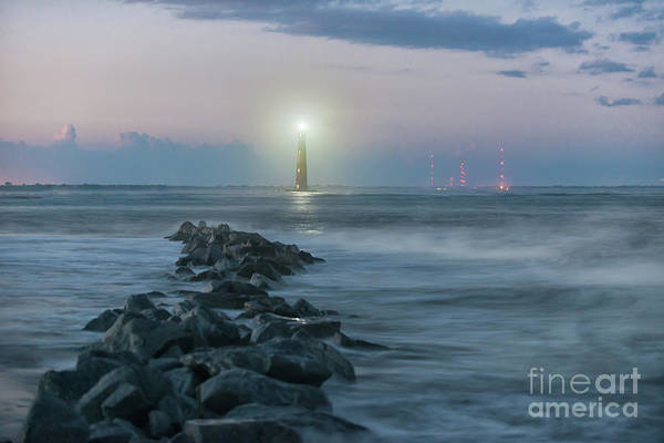 Photograph - Morris Island Lighthouse Southern Glow by Dale Powell