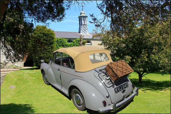 Photograph - Morris Minor Grey Convertible by Peter Leech