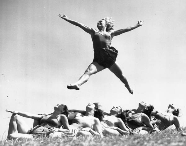Jumping Photograph - Morris Movement by William Vanderson