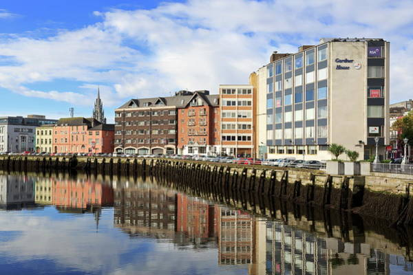 Quayside Photograph - Morrisons Quay On The River Lee, Cork by Richard Cummins / Robertharding
